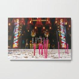 Incense at Quan Kong Temple, Hoi An, Vietnam Metal Print
