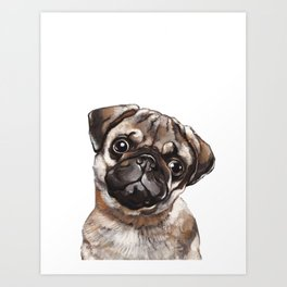 The Melancholy Pug Art Print