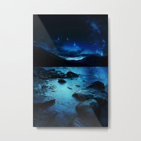 Magical Mountain Lake Metal Print