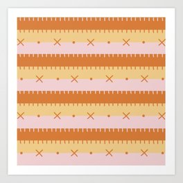 Sunrise Sky Stripe Art Print