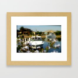Mooring your Cruiser in the Backyard Framed Art Print
