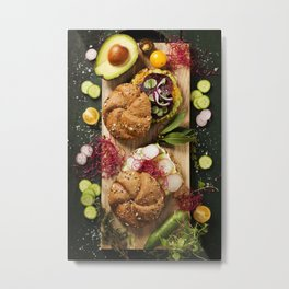 healthy avocado sandwiches Metal Print