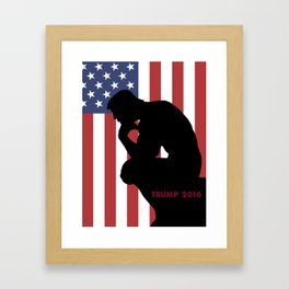 Trump The Thinker Framed Art Print