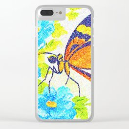 Butterfly Beauty. Pointillism from a watercolour painting. Clear iPhone Case