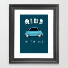 Ride with me Framed Art Print