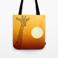 Giraffe and sun Tote Bag