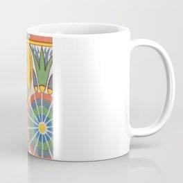 Vintage Pastel Tribal Geometric Floridian Egyptian Pattern Coffee Mug