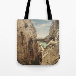 """The most dangerous trail in the world"". El Caminito del Rey Tote Bag"