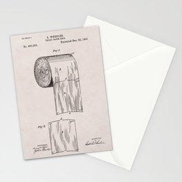 Original Toilet Paper U.S. Patent No. 465,588 by Seth Wheeler (Dec. 22, 1891) Stationery Cards