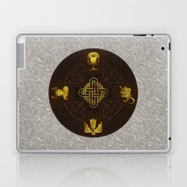 Ilvermorny Knot with House Shields Laptop & iPad Skin