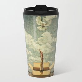 get out of the box Travel Mug