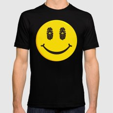 Smiling face MEDIUM Mens Fitted Tee Black