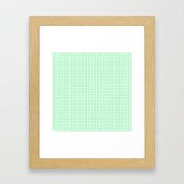 Mint Green with White Grid Framed Art Print