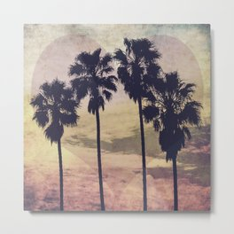 Heart and Palms Metal Print