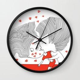 THE BIG KISS Wall Clock