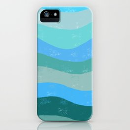 Abstract Waves of Ocean iPhone Case