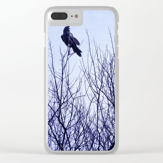 Autumn Crow Clear iPhone Case