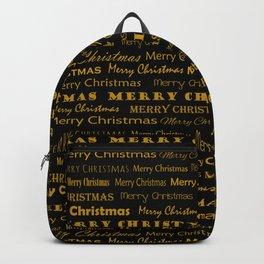 Golden Mery Christmas pattern  Backpack