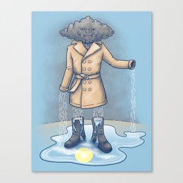 I think it only made it rain more Canvas Print
