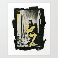 me in yellow Art Print