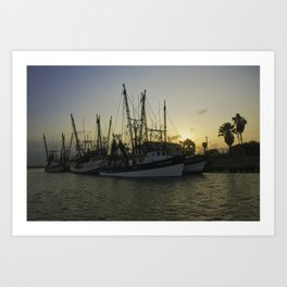 Shrimp boat 2 Art Print