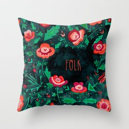 Folk Throw Pillow