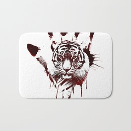 Conflict of Tiger Bath Mat