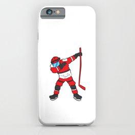 Dabbing Hockey Player Hockey Son Hockey Boy Gift Ice Hockey iPhone Case