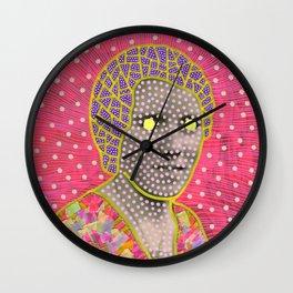 Neon Waves Wall Clock