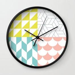 Nordic Pattern Mix Wall Clock