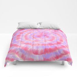 Modern abstract pink lavender blue watercolor tie dye Comforters