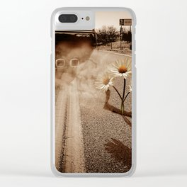 Exhausting Pipe Flowers Clear iPhone Case