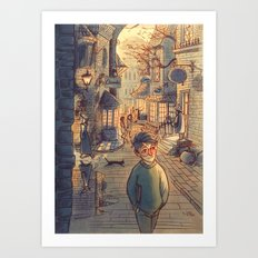 Diagon Alley Art Print