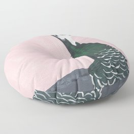 Young Peahen Floor Pillow