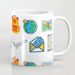 Travel Icons Coffee Mug