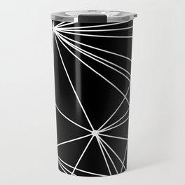 Black & White Geometric Web II Travel Mug