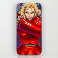 street fighter iPhone & iPod Skins featuring Karin Street Fighter V by Darrold Hansen