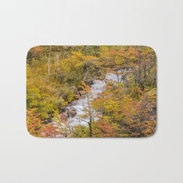 Colored Forest Landscape, Patagonia - Argentina Bath Mat