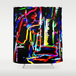 The Wired City Shower Curtain