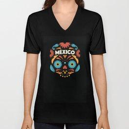 Mexican Skull I. Unisex V-Neck