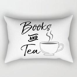 Books & Tea Rectangular Pillow