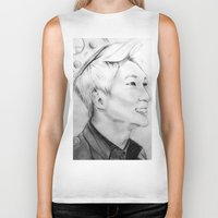 shinee Biker Tanks featuring Onew_King by Roxie33