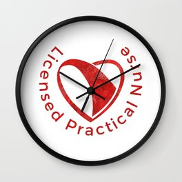 The heart of the Licenced Practical Nurse Wall Clock