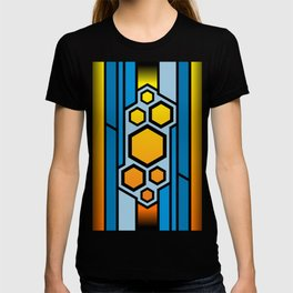 Colored honeycomb design T-shirt