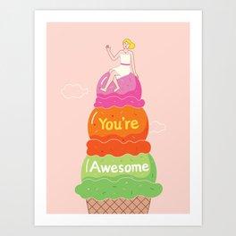 Awesome Ice Cream Art Print