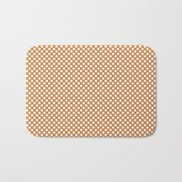 Topaz and White Polka Dots Bath Mat