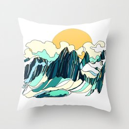 Surrounded by Giants :: Bugaboos Throw Pillow