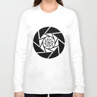 vector Long Sleeve T-shirts featuring Aperture Vector by Alli Vanes
