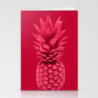 pineapple Stationery Cards featuring Pineapple by Simi Design