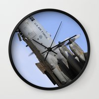 aviation Wall Clocks featuring USAF C-130 Aviation take off by Aviator